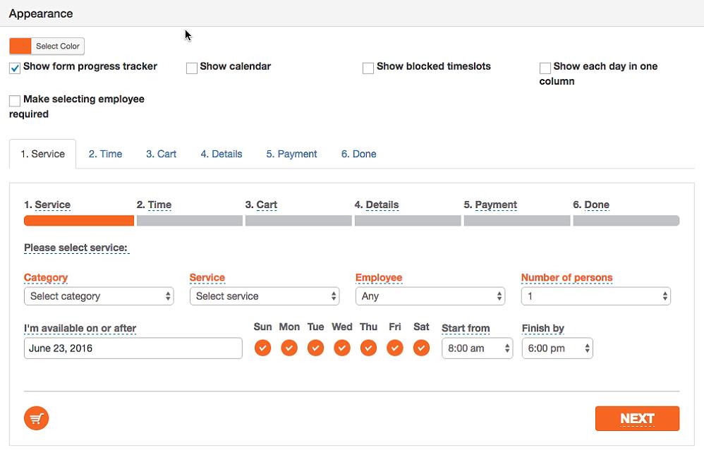 Bookly Plugin - Customize Form Appearance