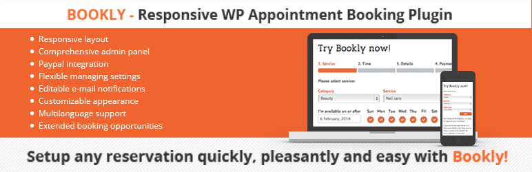 Bookly WordPress Appointment and Booking Plugin